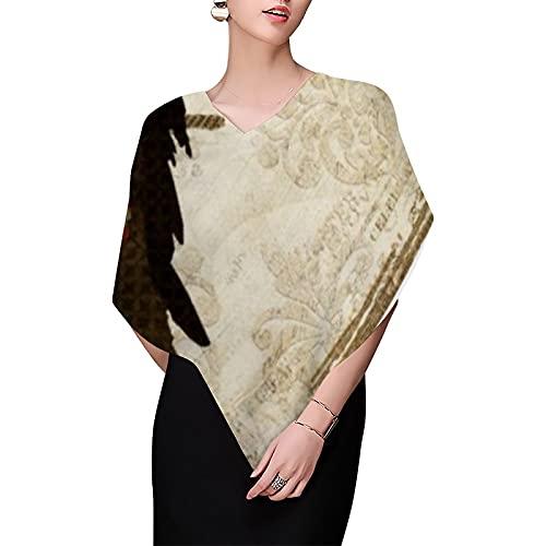 Bufandas de mojo vintage con diseño de búho, para mujer, bufanda de chifón, ligera, bufandas de moda, bufandas, chales