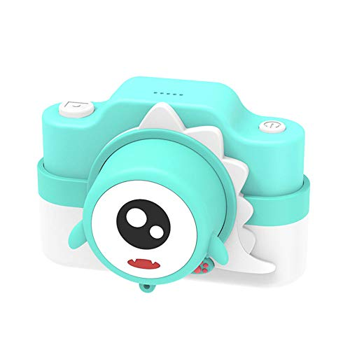 Yiwa Kinder WiFi camera Dual Camera Camera Digital Cartoon Cartoon kinderen, Celeste Y Blanco
