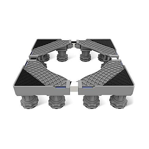 Base para Lavadora, Soporte Universal para Refrigerador con Base Móvil con 12 Pies Fuertes, Base Ajustable Multifuncional, para Lavadora Automática