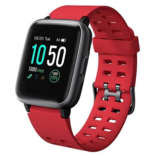 Willful Smartwatch Impermeable Reloj Inteligente con Pulsómetro, Pulsera Inteligente para Deporte con Cronómetro, Podómetro. Smartwatch Hombre Mujer para Android iOS Xiaomi Huawei