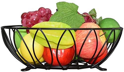 Accessoires voor thuis Woonkamer Zwarte Ronde fruitschaal, Fashion Creative Storage Basket Housewares Wire Fruit Basket