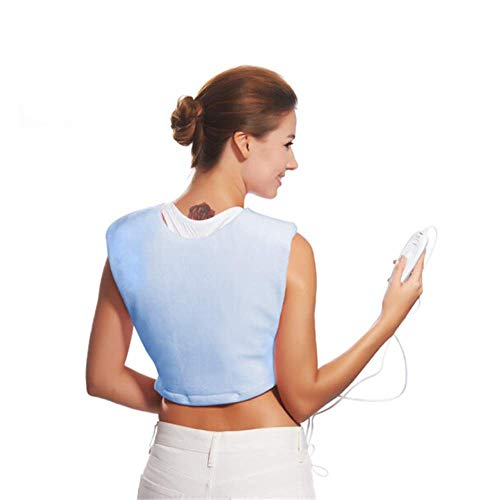 ZMXZMQ - Cojín térmico para cuello y hombros con calentamiento rápido, 3 niveles de calor, calma y dolor