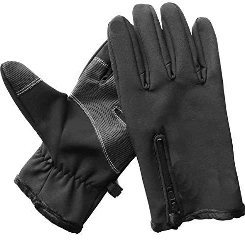 FAMKIT 1 par de invierno al aire libre Ciclismo a prueba de viento impermeable antideslizante pantalla táctil guantes para hombres mujeres