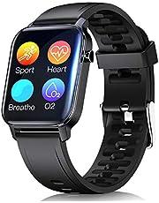 Smartwatch voor Dames Heren, Fitnesshorloge, 1,3inch Touchscreen, Fitness Tracker met Hartslagmeter, IP68 Waterdicht Fitnessarmband met Stappenteller, Hartslagmeter, Sporthorloge voor iOS en Android