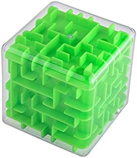 3D Maze cube Transparent Beads Toys Three-Dimensional Labyrinth Ball Rotate The Rubik's cube Children's Puzzle Intelligenc...