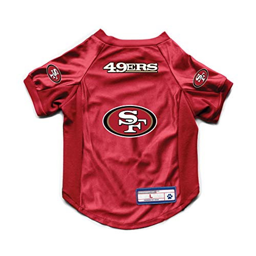 Littlearth NFL San Francisco 49ers Pet Stretch Jersey, Small