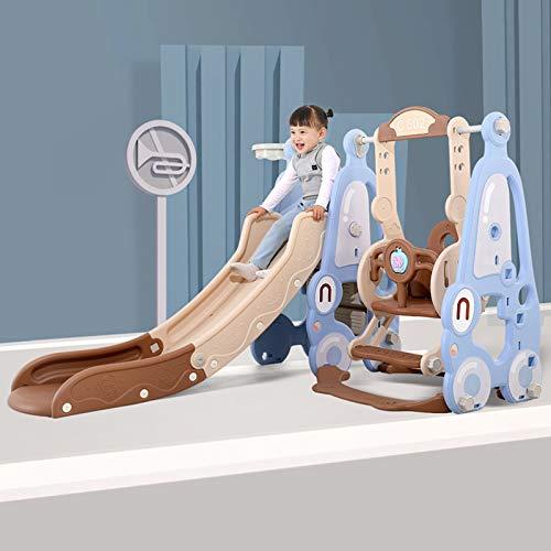 YQZ Toboganes Independientes multifunción, Juego de Columpio y Escalador para niños pequeños, escaleras fáciles de Subir, Juego de niños para el Patio Interior,B