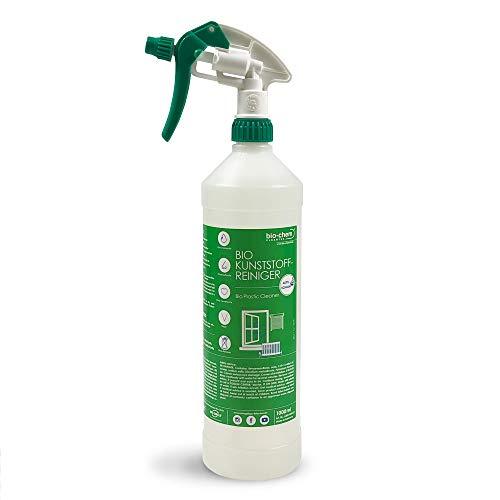 bio-chem Bio Kunststoffreiniger 1000 ml GEL, PVC-Reiniger, Klebereste-Entferner, Nikotin-Entferner, Kraftreiniger für Kunststoff-Fenster, Fenster-Rahmen, Gartenmöbel, Balkonmöbel u.v.m.