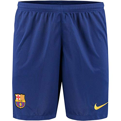 Nike Herren Fußballshorts FC Barcelona 19/20 Stadium Home/Away, Deep Royal Blue/Varsity Maize, XL, AJ5705-455