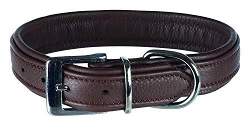 Trixie halsband voor hond active comfort leer bruin 31-37X2,5 CM