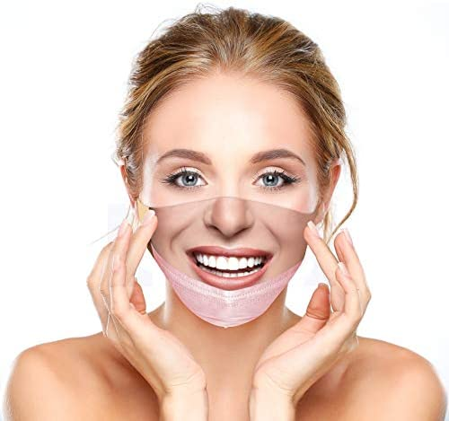 Funny Face Mask for Adults Maskless Pulled Down Prank Mouth Covering Trick Prank Pattern TIK product image