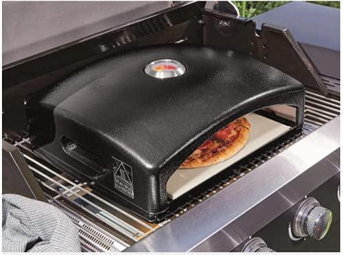 Barbacoa Pizza Horno Calefacción Exterior Patio Jardín Acero Inoxidable Termómetro Integrado Para Gas o Carbón