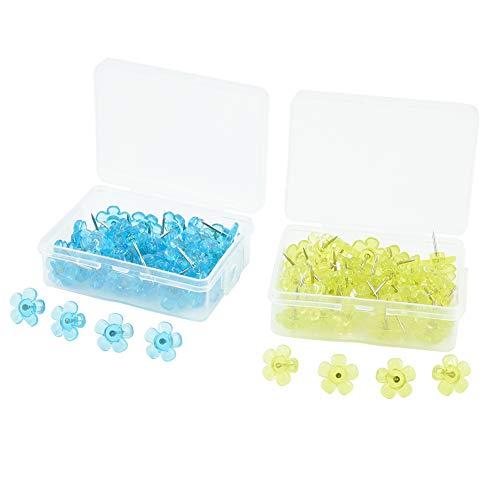 100 Pezzi Plastica Puntine da Lavagna