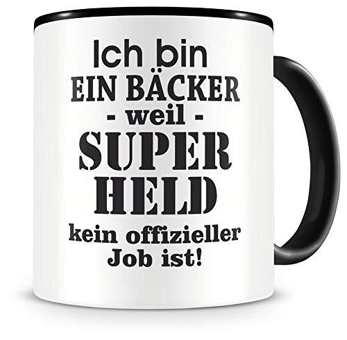 Samunshi® Ich bin ein Bäcker Tasse Beruf Geschenk Kaffeetasse Teetasse Kaffeepott Kaffeebecher Becher 300ml Bäcker