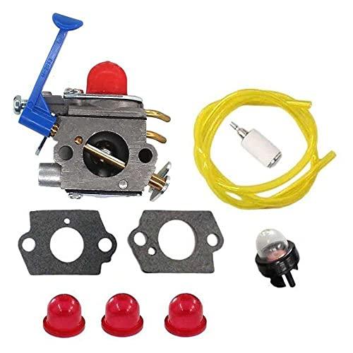 Gmasuber Carburador con junta de combustible para línea de cebador para 545130001 Husqvarna 124L 125L 125LD 128C 128CD 128L 128LD 128LDX 128R 128RJ 128DJX