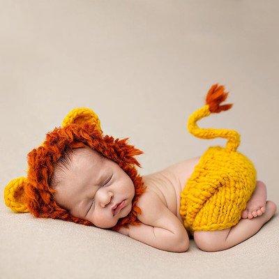THEE Disfraz de Fotografía de León Bebé Recién Nacido: Amazon.es ...