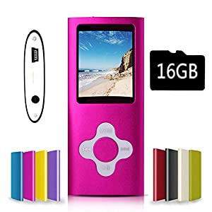 G.G.Martinsen MP3/MP4 Player with Photo Viewer, Mini USB Port Slim 1.78 LCD, Digital MP3 Player, MP4 Player, Video Player, Music Player,