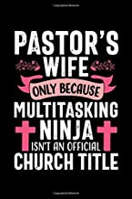 Pastor's wife only because Multitasking Ninja isn't an official Church Title: Cute Lined Notebook