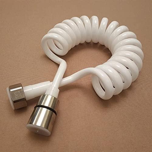 DEFTSHEEP 1 UNID 1.5 M / 2M / 3M Línea telefónica Ducha Manguera PU Baño Primavera Flexible para fontanería Aseo Aseo Bidet Pulverizador Accesorios de baño (Color : Blanco, tamaño : 300cm)