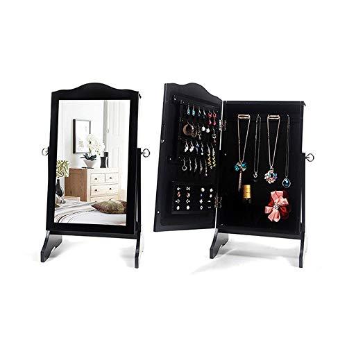 QinWenYan kast voor het ophangen van sieraden make-up spiegel sieradenkast Mini tafel decoratie sieraden Organizer kan worden geïnstalleerd op elke muur kan worden gebruikt als een spiegel voor u om te dragen