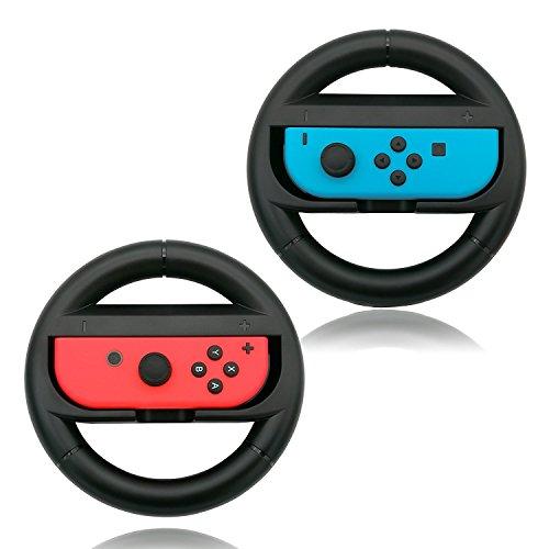 Luvu Steering Wheel for Nintendo Switch Joy-Con Controller(Pair)