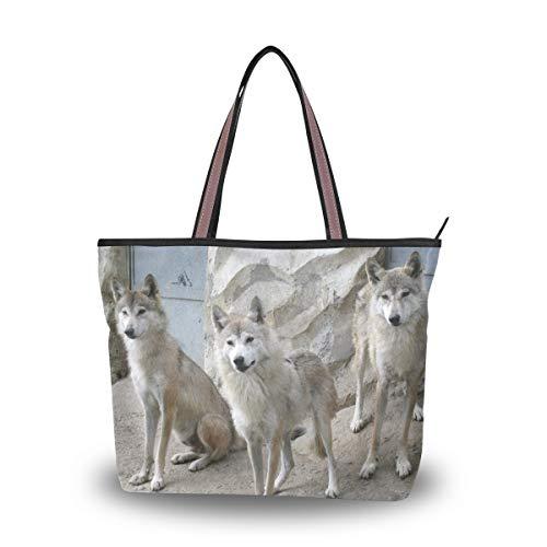 Eslifey Damen Handtasche Himalaya-Wölfe Handtaschen Schultertaschen für Damen Mädchen Gr. 38, multi
