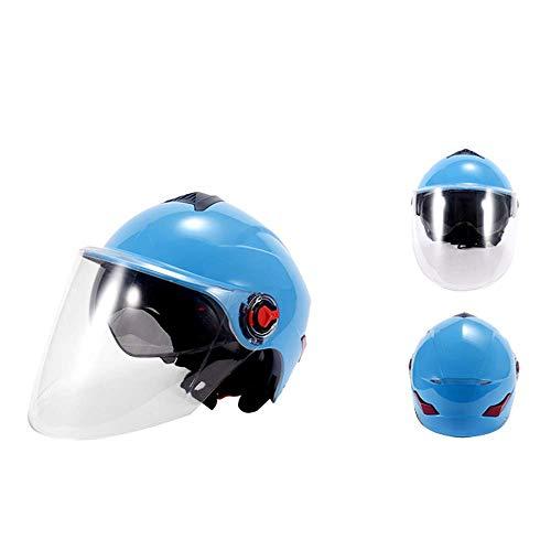 Zomer Motorhelm Halve Helm, Open Gezicht Helm Elektrische Fiets Helm Halve Helm, Gebruikt voor Professionele Weg Competitie, voor Mannen en Vrouwen