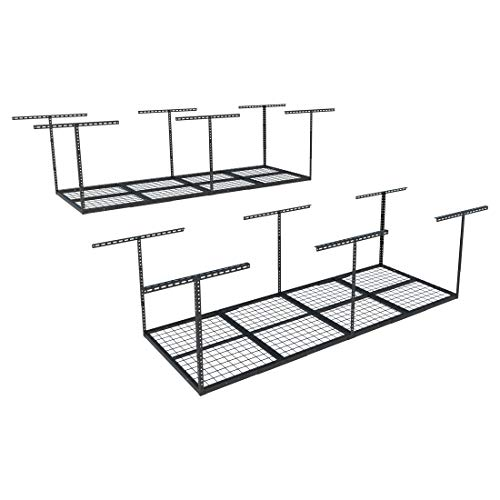 "FLEXIMOUNTS 2-piece 3x8 ft Overhead Garage Storage Racks Set Ceiling Storage Racks Adjustable Heavy Duty, 96"" Length x..."