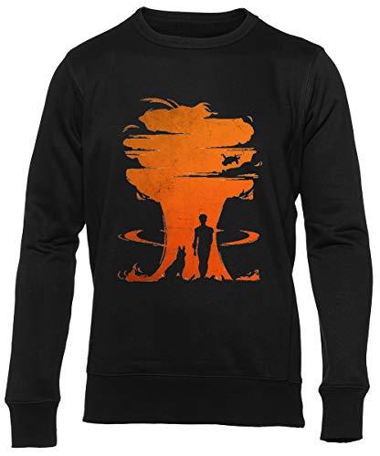 Nuclear Guerra Unisex Negro Jumper Sweatshirt Herren Damen Mangas Larga Tamaño S Unisex Black Jumper Long Sleeves S