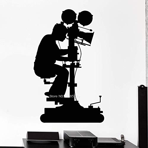 Tianpengyuanshuai fotografie silhouet vinyl muursticker film camera decoratie van het huis zelfklevend afneembaar