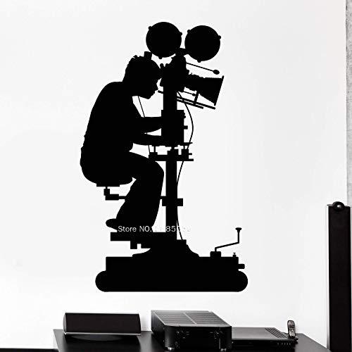 Tianpengyuanshuai Fotograf Silhouette Vinyl Wandtattoo Kunst Film Kamera Wandaufkleber abnehmbar 42X67cm