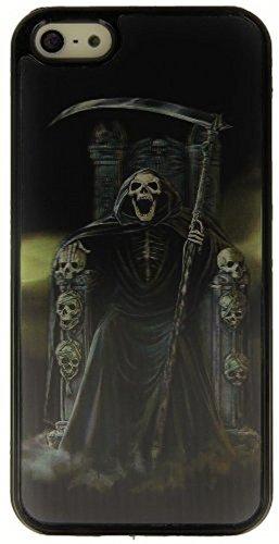 """B-Ware / 3D Handy Back Hart Case Cover \""""Sensen-Skelett\"""" für \""""Apple Iphone 5 5S\"""" Handy Tasche Schale Schutz Hülle Bumper Etui"""
