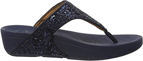 Fitflop Women's lulu Glitter Toe-Thongs Sandalen, Blau (Midnight Navy 399), 40 EU