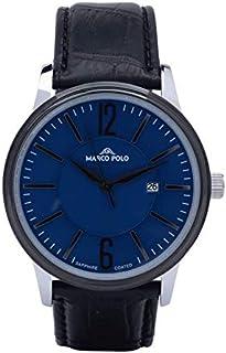ساعة رجالي فاخرة ومميزة، لون أسود.