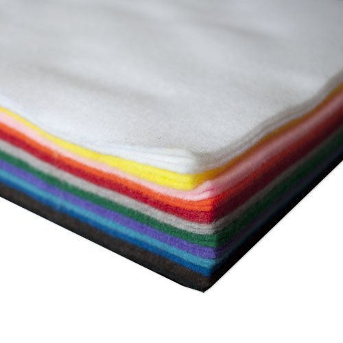 The Felt Store Acrylic Craft Felt Sheets 25 AD, 9x12inches (Assorted)