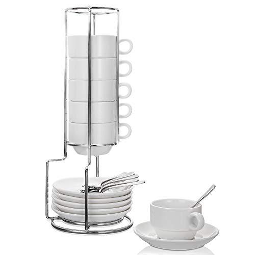 Aozita Espresso Cups and Saucers with Espresso Spoons