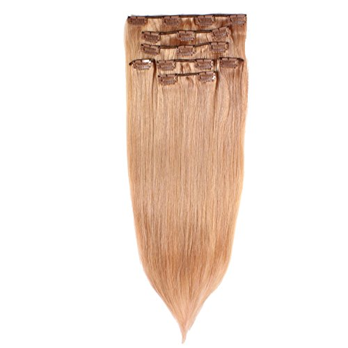 Just Beautiful Hair and Cosmetics Clip in, extension lisce Remy-a fili, 60 cm