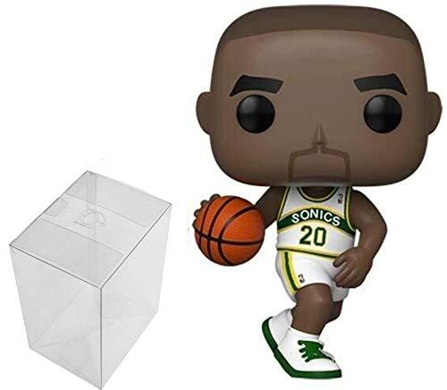 Funko POP! NBA Gary Payton (Sonics Home) Legends Bundle con 1 protector PopShield Pop Box