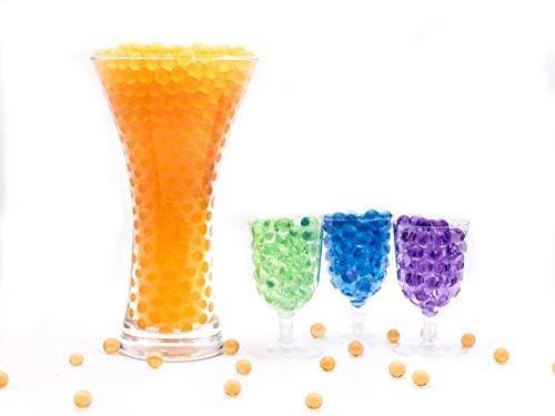 Risai Bolas de Gel de Agua, Perla Bolitas de Agua No Tóxicas Crecen en Agua, Sensorial Orbeez, Water Beads para Jarrones Decoración Plantas Flores, Orange 10g
