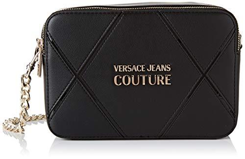Versace Jeans Couture Damen Bag Umhängetasche, Schwarz (Nero), 7.5x14x21 centimeters