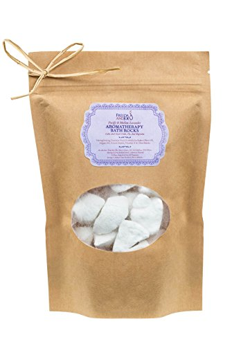Home Spa Bath Gift Basket - Decadent Lavender Aromatherapy Bath Rocks for Women Enriched with Argan Oil, Olive Oil, Coca Butter, Shea Butter, and Vitamin E- Luxury Bath & Body Set Gifts For Women