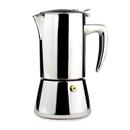 LUOXU Mokka-Kaffeekanne/Kaffeemaschine, Italienische Espresso-Moka-Kanne Edelstahl-Espressomaschine, geeignet für die Heimreise