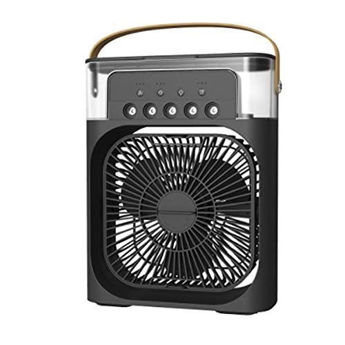 LINGBD Humidifier Fan Condizionatore d'Aria Raffreddatore d'Aria Air Cooler Aria Condizionata Umidificatore Ventilatore Serbatoio dell'Acqua Basso Consumo Energetico,Nero,E