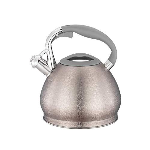 FHISD Utensilios de Cocina antiescarcha 3L, Tetera de café y té, silbido automático de Acero Inoxidable para Estufa de Gas con Gran Capacidad