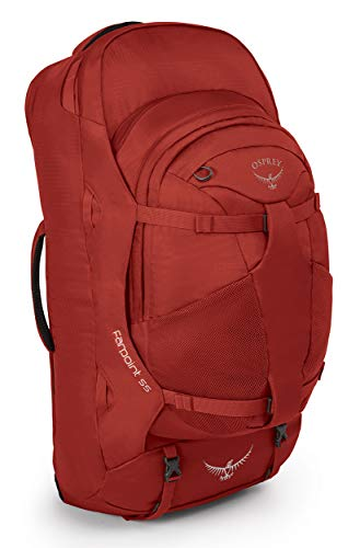 Osprey Packs Farpoint 55 Men's Travel Backpack, Jasper Red, Medium/Large
