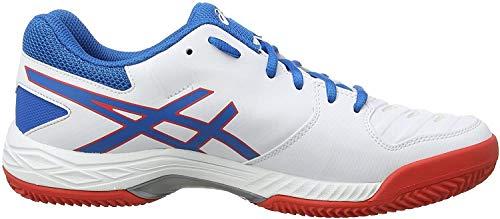 Asics Gel-Game 6 Clay, Zapatillas de Tenis para Hombre, Blanco (White/Race Blue 100), 44.5 EU