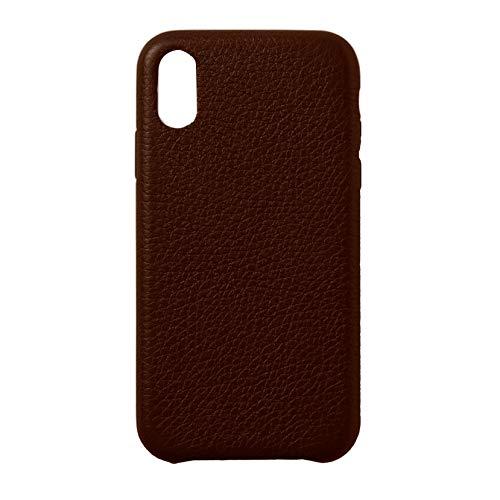 b-Kover Fundas de Piel Personalizadas Carcasas Compatible con iPhone 11, x, XR | Antideslizante (IPXR, Marrón)