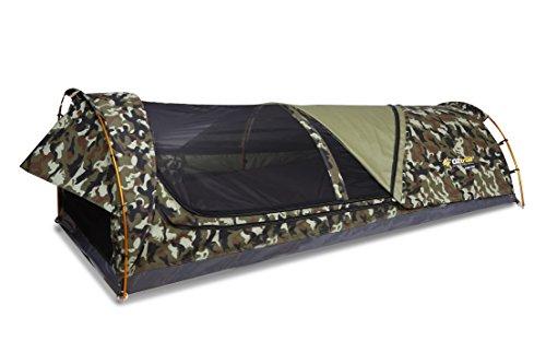 Mitchell Tactix Swag – Autentica tienda SWAG australiana 90x210x70cm con colchoneta de 6cm incluida. Camuflaje.