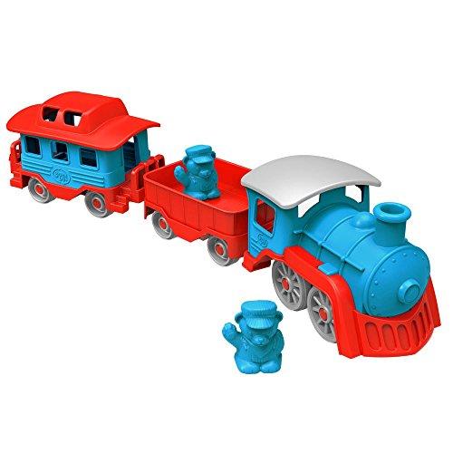 Green Toys - 66079 - Véhicule Miniature - Modèle Simple - Train - Bleu