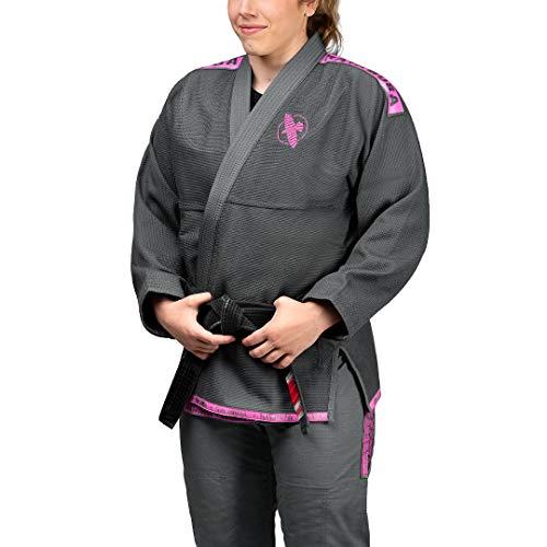 Hayabusa Lightweight Jiu Jitsu Gi - Grey/Pink, A3